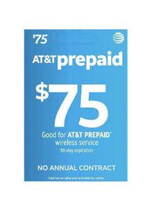 AT&T $75 Prepaid Card GoPhone