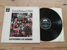 CLIFF RICHARD & THE SHADOWS-ESTABLISHED 1958-FACTORY SAMPLE-EX+EX VINYL LP 1968