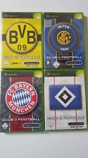 4 Xbox Club Football  Spiele - Sammlung -  BVB + HSV + FC Bayern +Inter NEU !