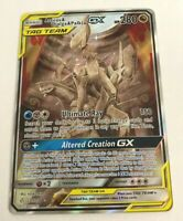 Pokemon Cosmic Eclipse ARCEUS & DIALGA & PALKIA Tag Team GX 221/236 FULL ART