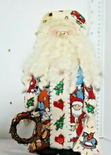 """Collectible Christmas Cute Santa Doll-With Curly White Beard-19"""" Tall"""