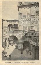 Stampa antica PADOVA Palazzo della Ragione Veneto 1891 Old antique print