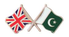 Pakistan Flag & United Kingdom Flag Friendship Courtesy Pin Badge