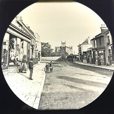 Antique Magic Lantern Glass Slide Photo Littlehampton England High Street Stores