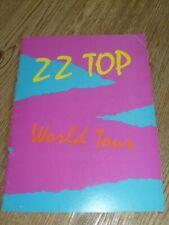 ZZ Top Concert Tour Program 1981 Billy Gibbons  Dusty Hill  Frank Beard
