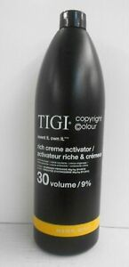 TIGI COPYRIGHT COLOUR Rich Creme Activator 30 Volume / 9% ~ 33.8 oz / Liter!