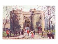 Antique colour printed postcard The Middle Tower Cassells Art Postcards