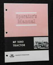 1968-1969 MASSEY-FERGUSON MF 1080 MF1080 TRACTOR OPERATORS MANUAL EXCELLENT