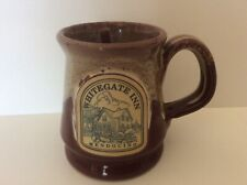 Deneen Pottery Hand Thrown Whitegate Inn Mendocino Coffee Mug Red 4""