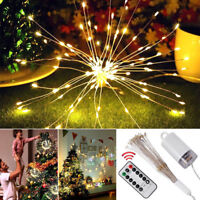 Firework LED Copper Wire Strip String Lights Fairy Lights Fr Wedding Xmas Decor