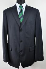HUGO BOSS 100'S Wool Navy Blazer UK 42L Suit Jacket Coat Eur Gr. 52 102 Sakko