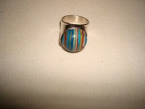 DTR Jay King Sterling Silver Rainbow Calsilica Ring Size 8.75