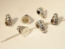 Großlochperlen, European Beads, Tannenbaum 15x11mm, Silber, 2 Stück #A01282