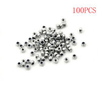 100pcs M3 x 0.5mm Stainless Steel Nylock Nylon Insert Hex Self-locking Nuts ML