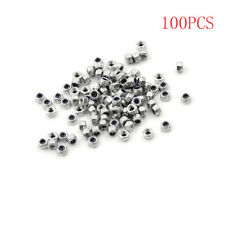 100pcs M3 x 0.5mm Stainless Steel Nylock Nylon Insert Hex Self-locking Nuts ZSUS
