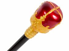 Zepter Königsstab ca 48 cm - mit rot goldener Krone für Karneval und Fasching