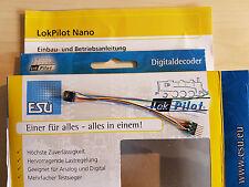 ESU 53664 LokPilot Nano Standard Decoder DCC Kabel + 6-polig Stecker NEU OVP