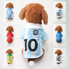 FIFA WORLD CUP fútbol soccer player Disfraz Camiseta Chaleco Jersey perro Ropa