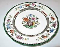"""Copeland Spode CHINESE ROSE 2/9253 Green Trim Floral, Luncheon Plate, 9 1/8"""""""