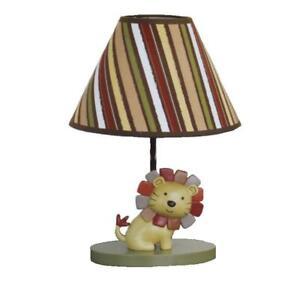 CUTE CoCaLo Baby NALI JUNGLE Lamp Base & Shade Nursery Child Room Decor Lion NEW