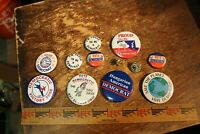 DEMOCRAT PARTY CAMPAIGN BUTTON LOT - 12 PCS - 10 DIFF - 2 DUPS NEAT