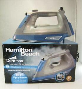 Nonstick Soleplate Steam Iron Hamilton Beach Durathon Superior Wrinkle Removal