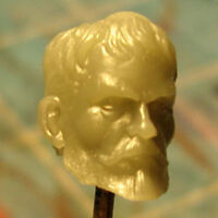 """MH226 Custom Cast Sculpt Male Head for use with 3.75"""" 1:18 action figure"""