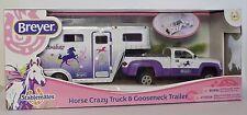 BREYER Horse Crazy Purple Truck  Gooseneck Trailer Stablemates 1:32 Scale 5369