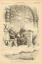 Nast, Political Cartoon, St. Peter Reviews Southern Claims, 1879 Antique Print