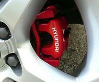 4 Pegatinas sticker brake aufkleber pinzas de freno Hyundai 8 cm