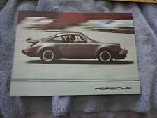 1976 Porsche 911 Turbo Carrera 912E  911S Factory Brochure oem xlnt