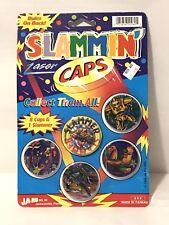 Laser Pogs SLAMMIN CAPS Ja-Ru 8 Caps 1 Slammer Set