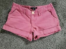 WOMENS FOREVER 21 PINK CUFFED SHORTS SIZE 26 100% cotton