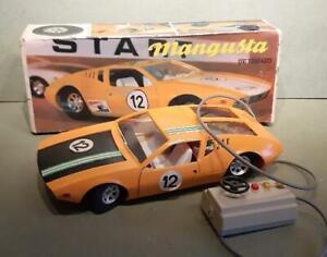 Vintage 1:12 Scale Mangusta De Tomaso Battery Toy Car by Piko Spielwaren GDR