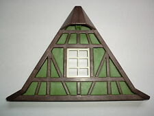 Playmobil Ritterburg Schneiderei Giebel grün Fachwerk Gitterfenster 3440 3666 V1