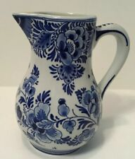 "Royal Delft De Porceleyne Fles 5"" Floral Pitcher"
