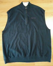 2XL Blue Callaway Golf Sport Zip Pepsi Spellout Embroidered Sweater Vest Jacket