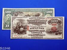 Reproduction $500 1865 Original Series NBN US Paper Money Currency Copy