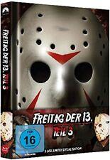 Blu Ray/DVD Freitag der 13. Teil 3 Uncut Mediabook - NEU - wattiert