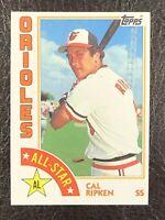 1984 Topps Cal Ripken, Jr. All Star #400 NM-MT Baltimore Orioles SS HOF