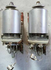 (2) Used 5894 VHF Dual Tetrode Tube with Shield and Socket on Mounting Bracket