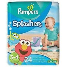 24 Pampers Splashers Disposable Swim Pants Sesame Street, size 3-4, 16-34 lbs