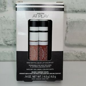 Mary Kay At Play Mini Matte Liquid Lip Color Kit - Red Envy & Taupe That .14oz