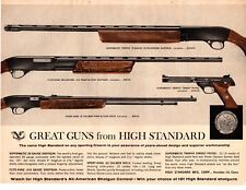 1964 High Standard Rifle Shotgun Pistol  Vintage Print Ad