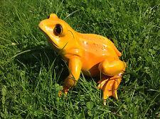 XL großer Frosch, wetterfeste Dekofigur Figur Garten Teich Pool Brunnen Kröte