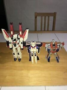 Transformers Classics Lot! Jetfire! Starscream! Astrotrain! With Accessories!