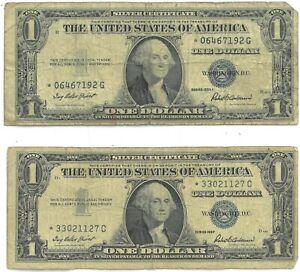1935 & 1957 $1 Silver Cert. Star Notes 2-Piece Set - 172802K