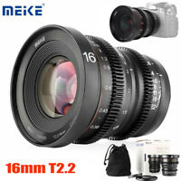 Meike 16mm T2.2 Manual Focus Lens for  for Olympus M4/3 Mirrorless Cam