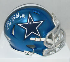 BILL BATES AUTOGRAPHED SIGNED DALLAS COWBOYS SPEED BLAZE MINI HELMET TRISTAR
