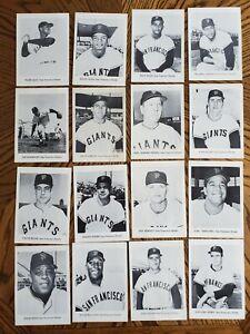 1961 Jay Publishing 5 X 7 Photo Cards San Francisco Giants lot of 16+ Mays